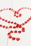 Ο αριθμός με μορφή μιας κόκκινης αλυσίδας καρδιών Στοκ φωτογραφίες με δικαίωμα ελεύθερης χρήσης
