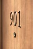Ο αριθμός πορτών ξενοδοχείων, κλείνει επάνω την εικόνα Στοκ Φωτογραφίες