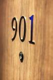Ο αριθμός πορτών ξενοδοχείων, κλείνει επάνω την εικόνα Στοκ φωτογραφία με δικαίωμα ελεύθερης χρήσης