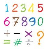 Ο αριθμός που σύρεται από ένα κραγιόνι απεικόνιση αποθεμάτων