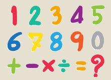 Ο αριθμός που σύρεται από ένα κραγιόνι διανυσματική απεικόνιση