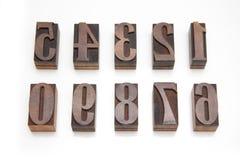 ο αριθμός σφραγίζει ξύλιν&omi Στοκ Εικόνα