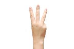 ο αριθμός χεριών εμφανίζε&iota Στοκ φωτογραφία με δικαίωμα ελεύθερης χρήσης