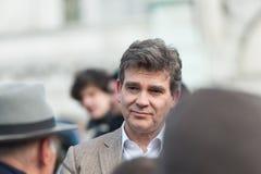 Ο Αρνώ Μοντμπούρ υποστηρίζει κατασκευασμένη στη Γαλλία Στοκ Εικόνα