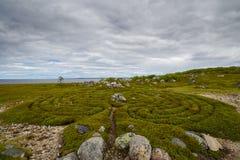 Ο αρχαίος λαβύρινθος Στοκ φωτογραφία με δικαίωμα ελεύθερης χρήσης