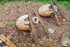 Ο αρχαίος αμφορέας σε archeological σκάβει της πόλης Tanais Στοκ εικόνες με δικαίωμα ελεύθερης χρήσης