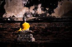 Ο αρχαίος Βούδας, στο ayutthaya wat-yaichaimongkol Στοκ Εικόνες