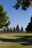 Ο αρχαίος ναός σύνθετος Prambanan Στοκ Εικόνα
