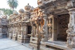 Ο αρχαίος ναός του ναού Kailasanathar και χτίστηκε κατά τη διάρκεια 685-705AD στοκ εικόνα με δικαίωμα ελεύθερης χρήσης