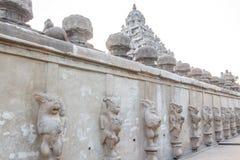 Ο αρχαίος ναός του ναού Kailasanathar και χτίστηκε κατά τη διάρκεια 685-705AD στοκ εικόνες
