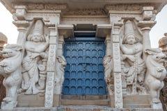 Ο αρχαίος ναός του ναού Kailasanathar και χτίστηκε κατά τη διάρκεια 685-705AD στοκ εικόνες με δικαίωμα ελεύθερης χρήσης