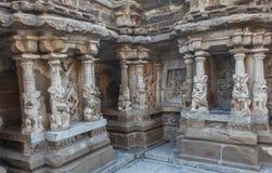 Ο αρχαίος ναός του ναού Kailasanathar και χτίστηκε κατά τη διάρκεια 685-705AD στοκ εικόνα