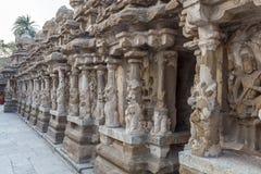 Ο αρχαίος ναός του ναού Kailasanathar και χτίστηκε κατά τη διάρκεια 685-705AD στοκ φωτογραφία