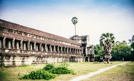 Ο αρχαίος ναός Angkor Wat, Siem συγκεντρώνει στοκ εικόνα με δικαίωμα ελεύθερης χρήσης