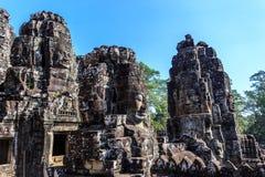 Ο αρχαίος ναός Bayon σε Angkor Thom, Siem συγκεντρώνει, Καμπότζη Στοκ φωτογραφία με δικαίωμα ελεύθερης χρήσης