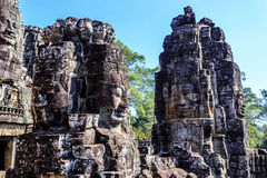 Ο αρχαίος ναός Bayon σε Angkor Thom, Siem συγκεντρώνει, Καμπότζη Στοκ Εικόνες