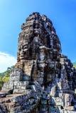 Ο αρχαίος ναός Bayon σε Angkor Thom, Siem συγκεντρώνει, Καμπότζη Στοκ Φωτογραφία