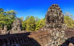 Ο αρχαίος ναός Bayon σε Angkor Thom, Siem συγκεντρώνει, Καμπότζη Στοκ εικόνα με δικαίωμα ελεύθερης χρήσης