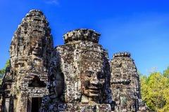Ο αρχαίος ναός Bayon σε Angkor Thom, Siem συγκεντρώνει, Καμπότζη Στοκ Εικόνα