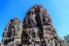 Ο αρχαίος ναός Bayon σε Angkor Thom, Siem συγκεντρώνει, Καμπότζη Στοκ φωτογραφίες με δικαίωμα ελεύθερης χρήσης