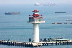 Ο αρχιτέκτονας κεντροθετεί τη θάλασσα στοκ εικόνα