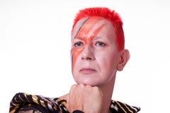 Ο αστέρας της ροκ με την αστραπή αποτελεί Στοκ εικόνες με δικαίωμα ελεύθερης χρήσης