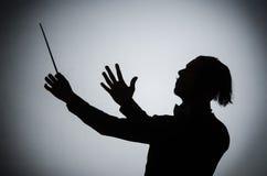 Ο αστείος αγωγός στη μουσική έννοια Στοκ Εικόνα
