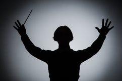 Ο αστείος αγωγός στη μουσική έννοια Στοκ Εικόνες