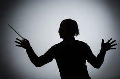 Ο αστείος αγωγός στη μουσική έννοια Στοκ φωτογραφία με δικαίωμα ελεύθερης χρήσης
