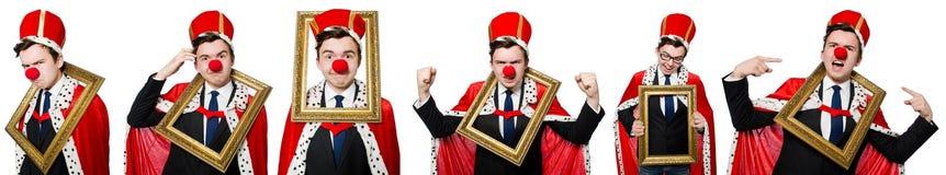Ο αστείος επιχειρηματίας με τη μύτη κλόουν Στοκ εικόνα με δικαίωμα ελεύθερης χρήσης