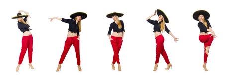 Ο αστείος μεξικανός με το καπέλο σομπρέρο στοκ εικόνες