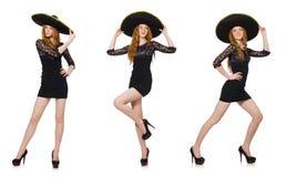Ο αστείος μεξικανός με το καπέλο σομπρέρο Στοκ φωτογραφίες με δικαίωμα ελεύθερης χρήσης