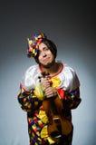 Ο αστείος φορέας κλόουν βιολιών στη μουσική έννοια Στοκ φωτογραφία με δικαίωμα ελεύθερης χρήσης