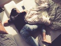 Ο αστείος ύπνος θέτει Στοκ Εικόνες
