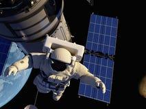 Ο αστροναύτης Στοκ Εικόνες
