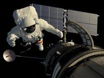 Ο αστροναύτης Στοκ εικόνες με δικαίωμα ελεύθερης χρήσης