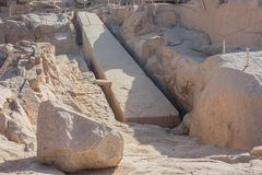 Ο ατελής οβελίσκος Aswan στοκ φωτογραφία με δικαίωμα ελεύθερης χρήσης