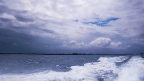 Ο Ατλαντικός Ωκεανός κατά τη διάρκεια μιας νεφελώδους και θυελλώδους ημέρας στοκ εικόνες με δικαίωμα ελεύθερης χρήσης