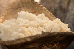 Ο ατμός μαγείρεψε το κολλώδες ρύζι Στοκ φωτογραφία με δικαίωμα ελεύθερης χρήσης