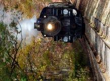 Ο ατμός τροφοδότησε το τραίνο Στοκ Εικόνα