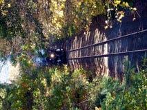 Ο ατμός τροφοδότησε το τραίνο Στοκ Φωτογραφίες