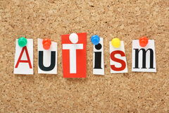 Ο αυτισμός λέξης Στοκ Φωτογραφίες
