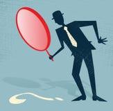 Ο αφηρημένος επιχειρηματίας βρίσκει μια ένδειξη. απεικόνιση αποθεμάτων