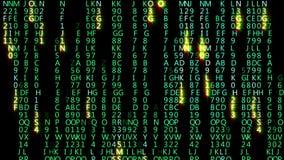 Ο αφηρημένος κώδικας μητρών κινείται στο εικονικό διάστημα Loopable ελεύθερη απεικόνιση δικαιώματος