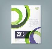 Ο αφηρημένος στρογγυλός κύκλος διαμορφώνει το υπόβαθρο για την επιχειρησιακή ετήσια έκθεση ελεύθερη απεικόνιση δικαιώματος