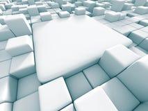 Ο αφηρημένος τρισδιάστατος κύβος εμποδίζει το υπόβαθρο Στοκ Εικόνες