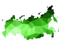 Ο αφηρημένος χάρτης της Ρωσίας αποτελείται από το πολύγωνο των διαφορετικών σκιών του γ διανυσματική απεικόνιση