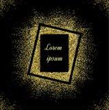 Ο αφηρημένος χρυσός ακτινοβολεί υπόβαθρο Φωτεινά σπινθηρίσματα για τις διακοπές VE στοκ εικόνες