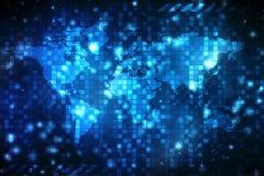 2$ο αφηρημένο υπόβαθρο παγκόσμιων χαρτών απεικόνισης Διανυσματική απεικόνιση