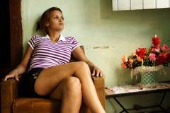 ο αφροαμερικάνος όμορφο στοκ φωτογραφία με δικαίωμα ελεύθερης χρήσης